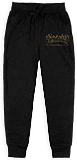 Thrasher-Richter-Flame-Logo Youth Feet Pants Jogger Sweatpants for Unisex Youth Athleisure Soft Joggers