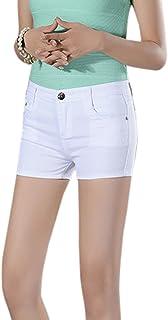 WSLCN レディース デニム ショート パンツ ショーパン 伸縮性 美脚効果 10色 8サイズ 大きいサイズ 人気 センス ハイウエスト セクシー