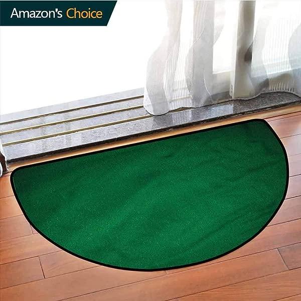 DESPKONMATS 亨特绿色家用地毯抽象普通设计浴室门垫不含邻苯二甲酸盐的地毯办公室用站立书桌半圈 W31 5 X R19 7 英寸