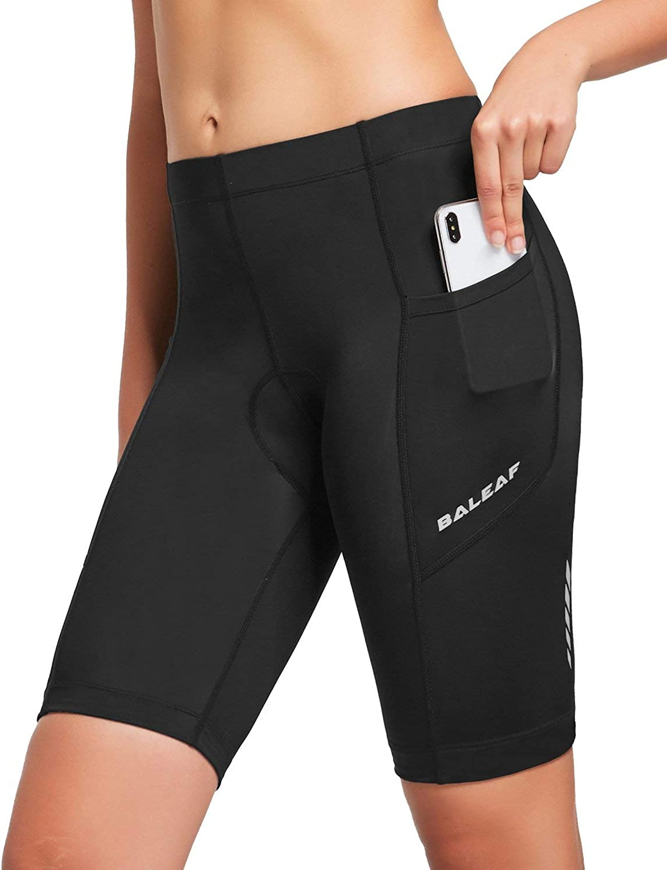 BALEAF Popular popular Womens Bike Shorts 3D Pocket Max 76% OFF Padded Shor Spinning Cycling