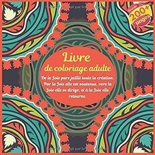 Livre de coloriage adulte - De la Joie pure jaillit toute la création. Par la Joie elle est soutenue, vers la Joie elle se dirige, et à la Joie elle retourne. (Mandala) (French Edition)