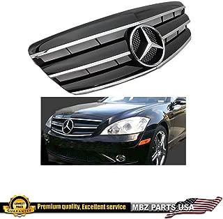 Mercedes benz W221 S-Class 2007 2008 2009 Black Chrome grille Star Emblem S550 S63 S350 Front Bumper Hood #343D