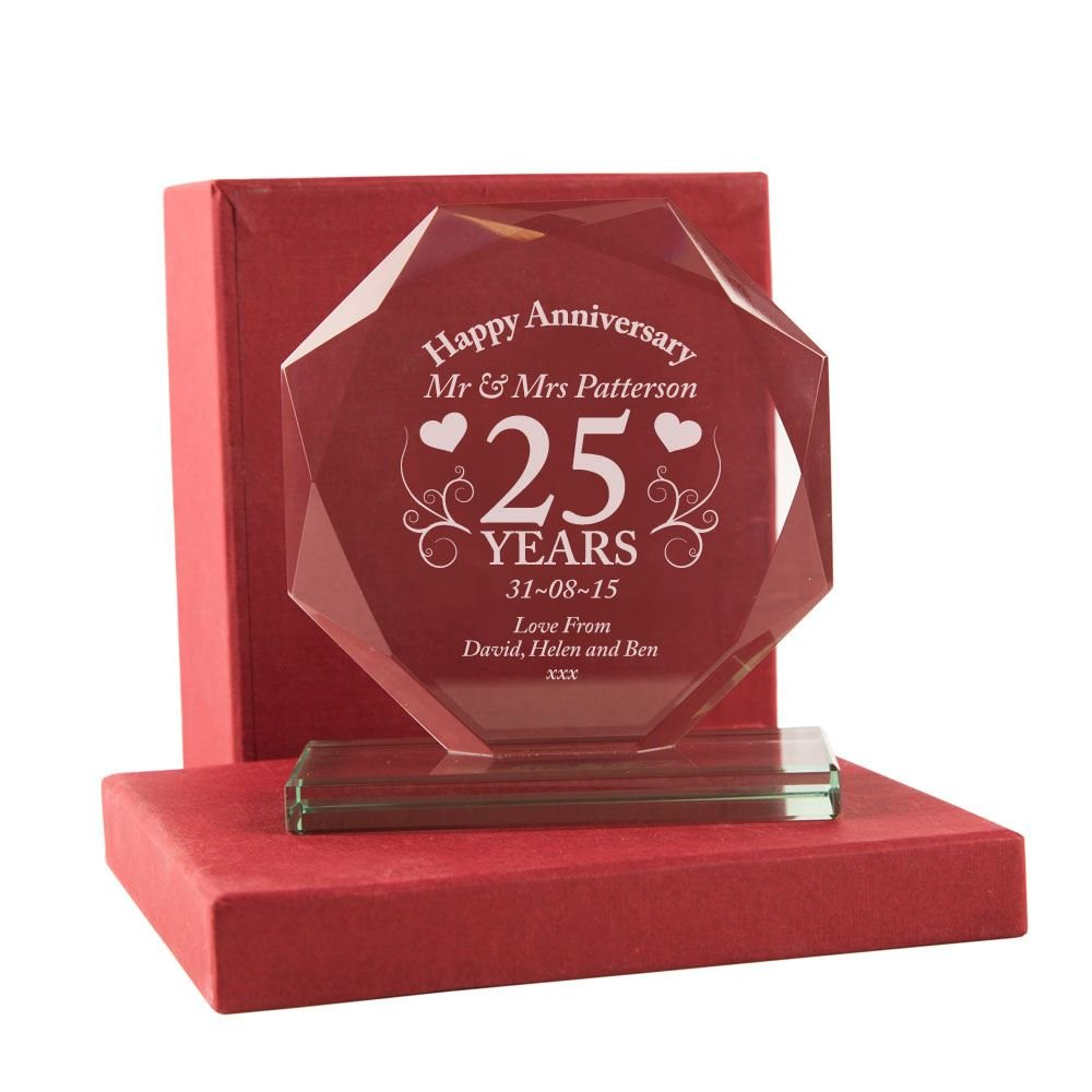 25th Wedding Anniversary Gift Personalised Glass Silver Wedding Award with Presentation Box Engraved 25th  sc 1 st  Amazon UK & Wedding Gifts Ideas for Friends: Amazon.co.uk