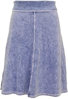Hard Tail Forever Knee Length A-Line Skirt with Rolldown Waistband Style B-126