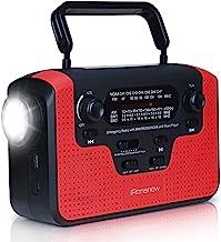 رادیو هوای واقعی NOAA Alert با زنگ هشدار ، iRonsnow IS-388 خورشیدی خورشیدی دست خورشیدی AM / FM / SW / WB رادیو ، بلندگو کارت TF ، چراغ قوه LED و چراغ کمپینگ خواندن ، شارژر تلفن همراه 2300mAh
