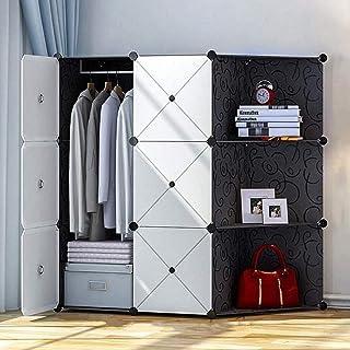 HWG Armoire Penderie Facile à Assembler 6 Armoires Cubiques Armoire Portable Moderne pour Chambre à Coucher, Salon, Burea...