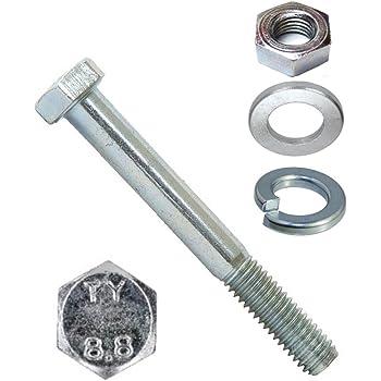 Gewindeschrauben Edelstahl A2 V2A Maschinenschrauben mit Teilgewinde ISO 4014 Eisenwaren2000 10 St/ück rostfrei - DIN 931 M16 x 130 mm Sechskantschrauben mit Schaft