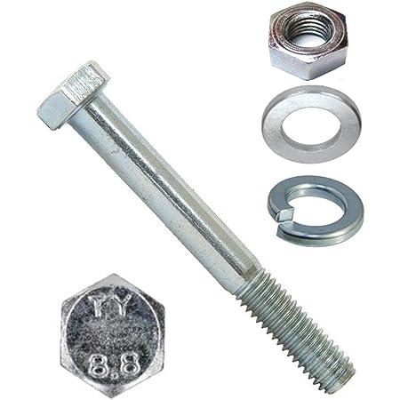 5 St/ück - SC931 Sechskantschrauben mit Schaft DIN 931 - aus rostfreiem Edelstahl A2 - Maschinenschrauben ISO 4014 M10x100 - V2A