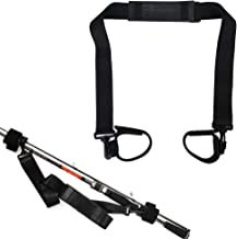 Fishing Rod Trackle Straps Belt - Fishing Rod Pole Carry Strap Sling Band Adjustable Shoulder Belt Travel Tackle Fishing Rod Carrier Straps Fishing Pole Holder Carrying Black