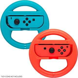 Premium Steering Wheels – Compatible for Nintendo Switch Accessories Pack of 2 Perfect for Mario Kart 8 and All Things Mar...
