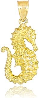 Sea Life Collection 14k Yellow Gold Seahorse Pendant
