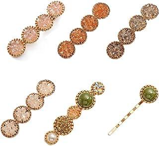6 PCS Bling Crystal Hair Clip Word Barrettes Pins Rhinestone Luxury Hair Jewellery Headwear Accessories for Women Girls