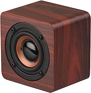 Goolrc Mini Wooden Bluetooth Speaker Portable Wireless Subwoofer Strong Bass Powerful Sound Box Music Magic Cube للهواتف ا...