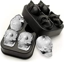 KOSxBO® Doodskop 3D ijsblokjesvorm 4 stuks, vorm b...