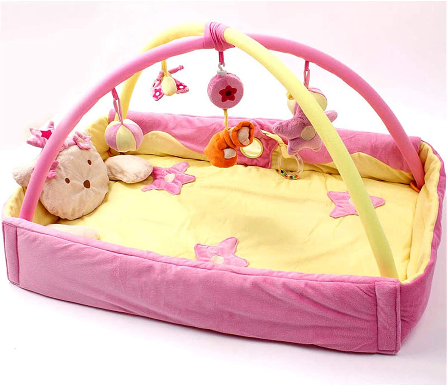 Baby Play Mat Musical Activity Gym New Born,Pink,L