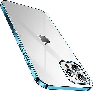 SmartDevil iPhone 12 Pro Max Case Gratis geharde schermbeschermer, Anti-Geel Slank Doorzichtig Zacht beschermend Transpara...