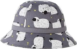 RoyalDS 2019 Cute Fisherman hat Cartoon Print Animal boy Girl Sunscreen Sun hat Size 49CM (Color : Gray, Size : 49)
