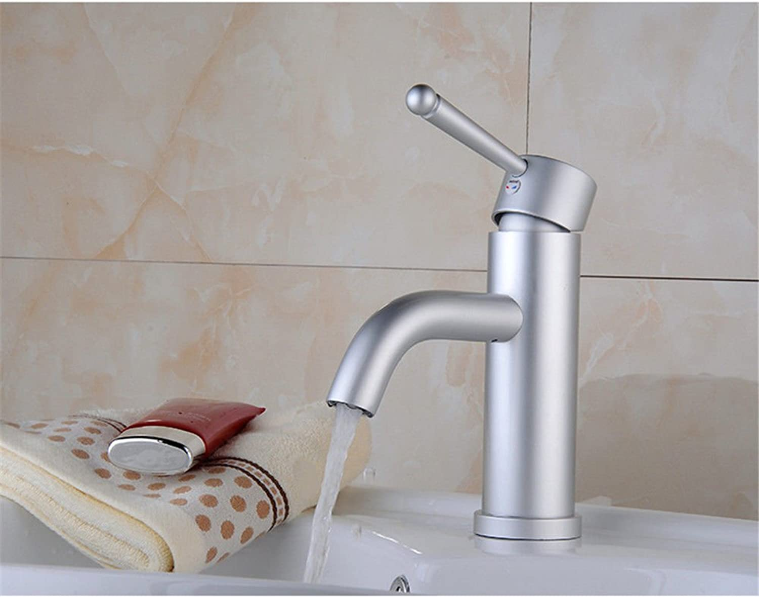 ETERNAL QUALITY Bathroom Sink Basin Tap Brass Mixer Tap Washroom Mixer Faucet The space aluminum cold water faucet basin mixer basin faucet basin mixer console Kitchen Si