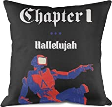 YAYAZANPl Home Decorative Throw Pillow Covers Rock Band Album Design Cotton Square Cushion Case for Sofa Bedroom Car 18 x 18 Inch