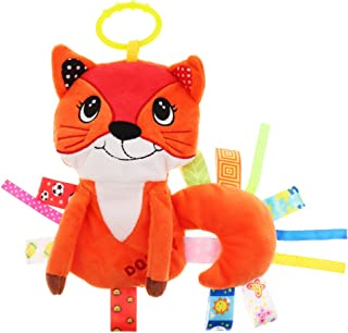 MagiDeal Baby Kids Pram Handbell Stroller Hanging Plush Toys - Orange fox, as described