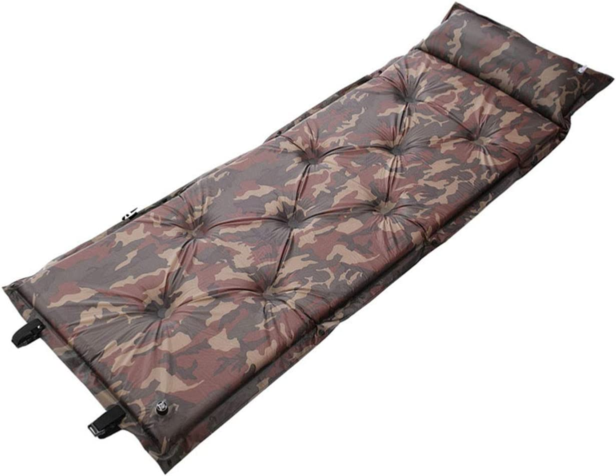 Self-Inflating Camping Sleeping Pad with Pillow Pad Waterproof D