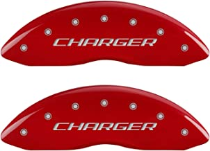 MGP Caliper Covers 12001SCHBRD Caliper Cover with Red Powder Coat Finish, (Set of 4)