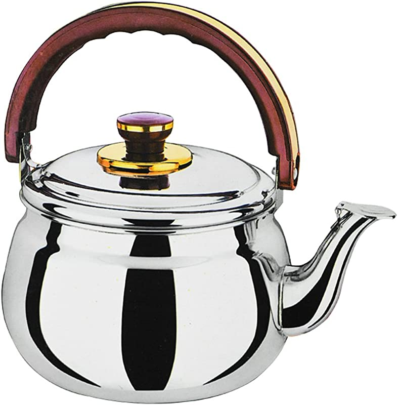 D DOLITY Whistling Tea Kettle Stainless Steel Teapot Stove Top Fast Boil Water Coffee 0 6L