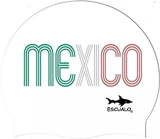 escualo Gorra Adulto para Natación Mod Mexico Tricolor Color Blanco