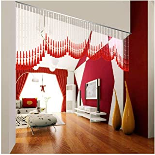 Beaded Curtain Beads Door String Curtains Indoor Soft Partition for Room Divider Wedding Party Decoration, Breathable, Siz...