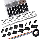 SIQUK 780 Pieces 2.54mm Pitch Housing Connector Pin Male Female Crimp Pins with 10 Wire Rainbow Color Flat Ribbon IDC Cable Assortment Kit