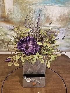 Purple Poppy Garden Arrangement Wall Sconce or Table top