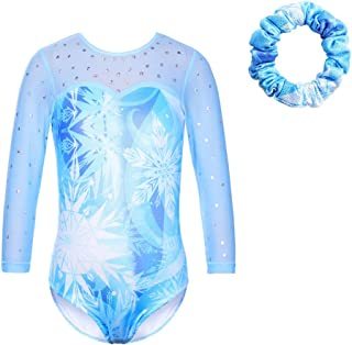 TFJH E Gymnastics Leotards for Girls Sparkle Athletic Dance Clothes Activewear One-piece