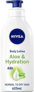 NIVEA, Body Care, Body Lotion, Aloe & Hydration, Normal to Dry Skin, 625ml