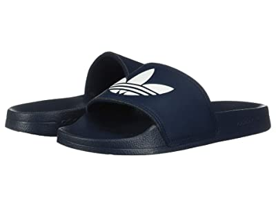 adidas Originals Kids Adilette Lite (Little Kid/Big Kid) (Collegiate Navy/White) Kids Shoes