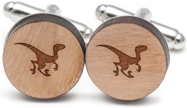 831093866a Raptor Cufflinks, Wood Cufflinks Hand Made in the the the USA 419e64 ...