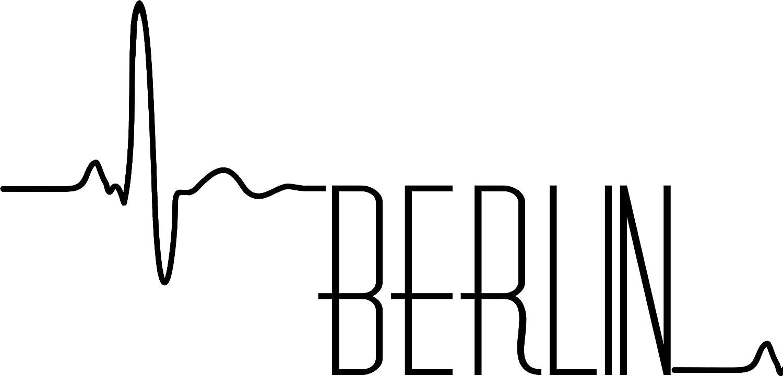 Autoaufkleber Herzschlag Berlin Hochleistungsfolie Deutschland Stadt Kfz Aufkleber Wetterfest Baumarkt