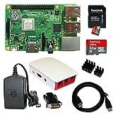 Raspberry Pi 3 Model B+ (2018) mit 1,4 GHz CPU offizielles Gehäuse in himbeerrot / weiß offizielles Netzteil in schwarz SanDisk Ultra SD-Karte (98 MB/s) mit aktueller Software (noobs 2.8) vorinstalliert 2m HDMI-Kabel, HDMI-DVI Adapter, InnoConnect Kü...