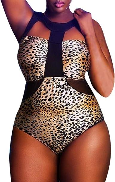 Plus Size Leopard Print Bikini