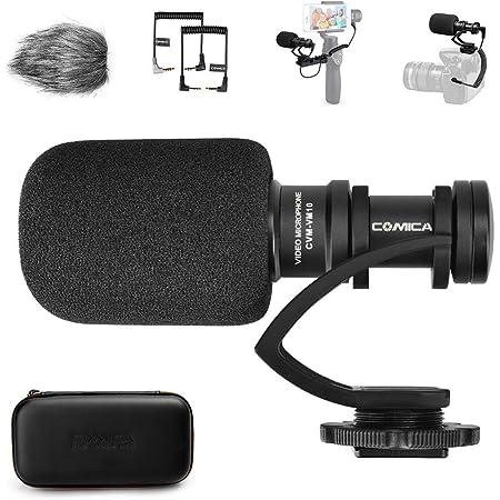 comica CVM-VM10II Microfono Video, Mini Micrófono Camara Reflex, Microfono Shotgun Direccional Micrófono DSLR, Micrófono Condensador Supercardioide Direccional para Smartphone