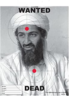 25 Osama Bin Laden Paper Shooting Targets (11X15)