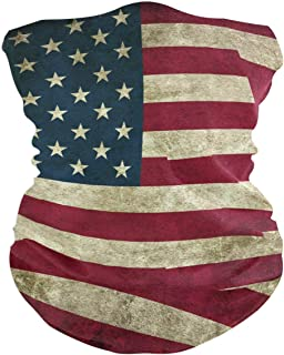 Old American Flag Balaclava Womens Headband Scarf Mens Versatile Bandana, Muffler, Neck Gaiter, Magic, Facemask Tube