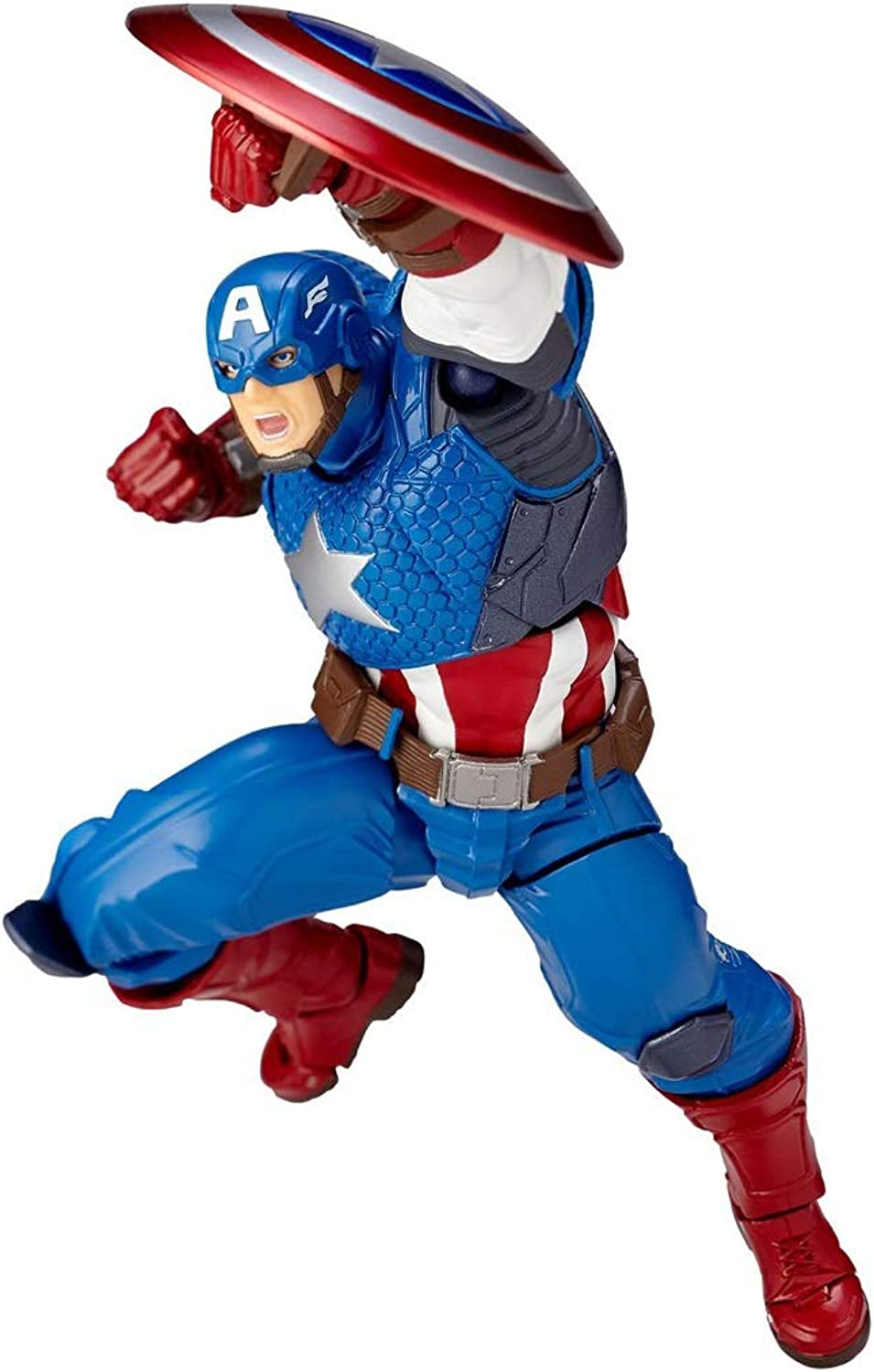 Captain America Revoltech Action Figure Approximately 165 Mm ABS & PVC Painted Action Figure