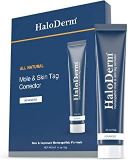 HaloDerm Advanced Skin Tag Remover & Skin Growth Remover - Homeopathic Fast & Effective Skin Tag Cream - Remove up to 10 S...