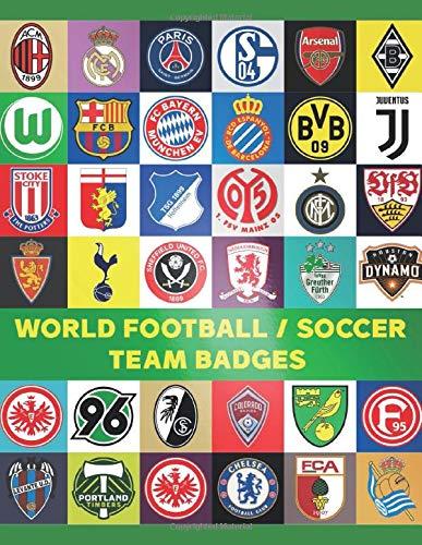 World Football/Soccer Team Badges: Coloring Book