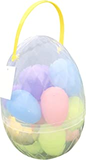 Jumbo Easter Egg Container with 17 Large Plastic Easter Eggs including one Golden Egg Easter Set - Perfect Easter Bucket for Easter Egg Hunt, Easter Basket, and Easter Prizes