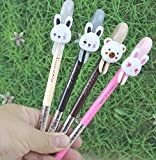4 Pcs Multi Colors Colorful cat Lovely Gel Ink Rollerball Pens (Rabbit)