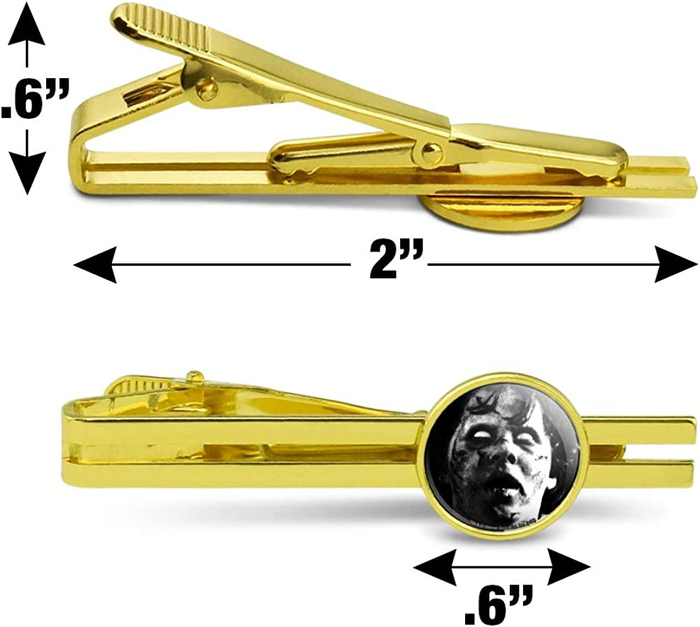 GRAPHICS & MORE The Exorcist Regan Round Tie Bar Clip Clasp Tack Gold Color Plated