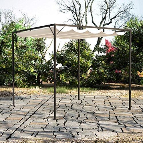 Anself jardín cenador Pergola con toldo retráctil Shades: Amazon ...