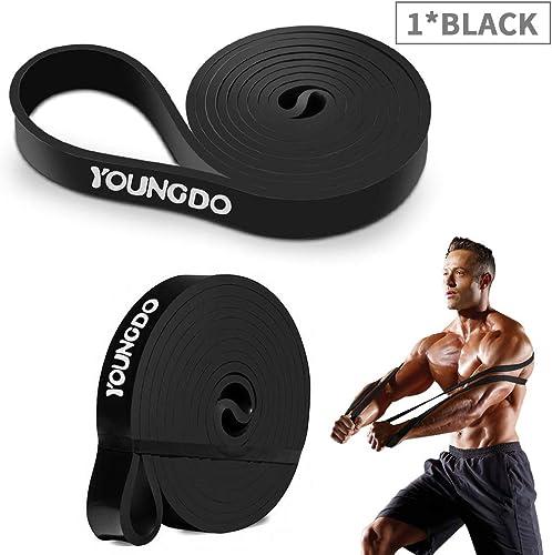 YOUNGDO Bande Élastique Fitness, Elastique de Sport Musculation, Bande de Résistance Exercer Musculation, Faire du Fi...