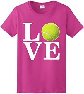 ThisWear Tennis Player's Gift Love Tennis Ladies T-Shirt